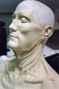 Sculpting self portrait Makeup Fx, Old Age Makeup, Mask Makeup, Oil Based Clay, Prosthetic Makeup, Monster Makeup, Traditional Sculptures, Sculpture Head, Bizarre