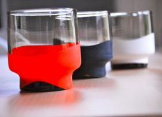 customized fun party glasses - using a balloon sock!