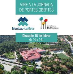 JORNADA DE PORTES OBERTES Recordeu que aquest proper dissabte 18 de febrer us esperem de 10 a 14 h al Montcau-La Mola i Els Pinetons! Compartiu-ho amb aquelles famílies que creieu que puguin estar interessades en venir a conèixer-nos :)