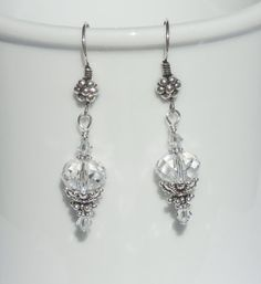Swarovski clear crystal and sterling silver earrings by ParkhillDesigns on Etsy