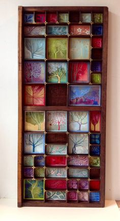 By kate lycett Shadow Box Kunst, Wood Shadow Box, Altered Boxes, Altered Art, Arte Assemblage, Mini Toile, Letterpress Drawer, Printers Drawer, Wal Art