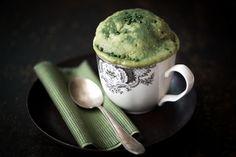 Mug cakes au thé matcha