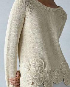 Slim Fit Jeans für Damen Famous Last Words Sweater Knitting Patterns, Cardigan Pattern, Crochet Cardigan, Knit Patterns, Crochet Lace, Vogue Knitting, Hand Knitting, White Shirts Women, Knit Fashion