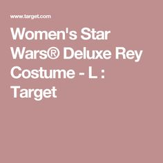 Women's Star Wars® Deluxe Rey Costume - L : Target