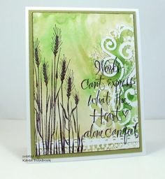 handcrafted card:  Heartfelt by k dunbrook  ... silhouette wheat ... embossing folder stamping ... wonderful card!