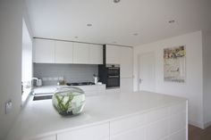 Bespoke Kitchens, All White, Kitchen Furniture, Contemporary, Modern, Table, Kitchen Ideas, Home Decor, Homemade Home Decor