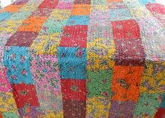 Vibrant Handmade Patchwork Quilts By Kanthaa (blue-twin) Kanthaa http://www.amazon.com/dp/B00I0HYN1W/ref=cm_sw_r_pi_dp_CUvhub11G0BJ0