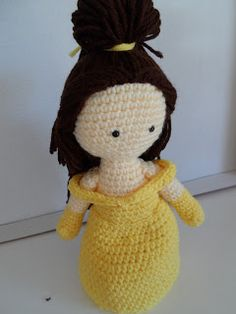 Crochet Crafts: Belle Inspired Crochet Doll free pattern