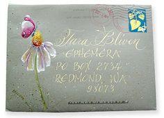 Summer envelope by Brigitte Hefferan for The Elevated Envelope mail art exchange.