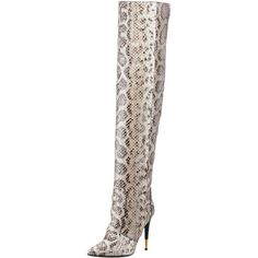 Tom Ford Over-The-Knee Anaconda Boot (22,575 MXN) ❤ liked on Polyvore featuring shoes, boots, over-the-knee boots, pointed toe stilettos, over-knee boots, over the knee thigh high boots, pointed toe high heels stilettos and thigh boots