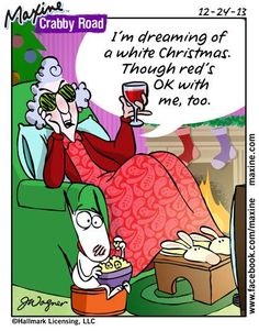 dreaming of a white Christmas   Maxine comic for 2013-12-23