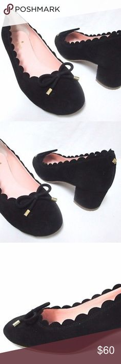 """Kate Spade black suede bow pumps heels Size Sz 8.5 Kate Spade pumps in mint condition. Size 8.5, suede, heel is 1.8"""" Pet and smoke free home. kate spade Shoes Heels"""