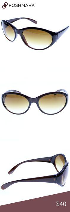 ec4fd21e17ee Liz Claiborne Brown Designer Oversize-Sunglasses  Authentic Liz Claiborne  name brand designer sunglasses