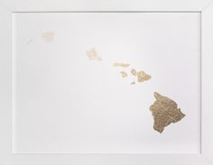 Hawaii Map by GeekInk Design at minted.com