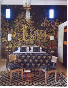 Exotic but not cluttered.  Still airy.  Magnificent wallcovering