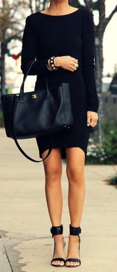 #fall #fashion / noir