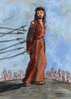 Jesus Painting, Art, Art Background, Painting Art, Kunst, Paintings, Performing Arts, Painted Canvas, Drawings