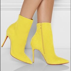 ISO LOUBOUTIN SO KATE SUEDE BOOTIES IN 40.5 or 41 NOT FOR SALE. Looking for these suede ankle boots in any of the colors, not black though. Size 40.5/41. Preferable not worn, new in box, though I'm fine with worn. Very much want these colorful booties. Help me out! Want to buy. Thanks! Please tell me if you have and will sell. I will make it worth it to sell, trust me! Christian Louboutin Shoes Ankle Boots & Booties