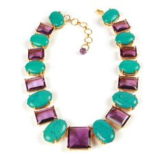 Bounkit   Amethyst & Turquoise Necklace