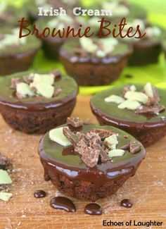 Irish Cream Brownie Bites