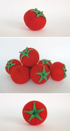 Felt Food Tomato 1 pc Realistic Toy Pretend Play Food by MyFruit $5