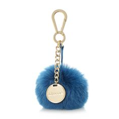 DUNE ACCESSORIES JAFFA - Faux Fur Pom-Pom Keyring - teal | Dune Shoes Online