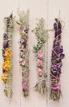 Smudge Stick CUSTOM MTO herbal smoke sticks for any intentions peace healing negativity banishing love etc Deco Nature, Deco Floral, Smudge Sticks, Idee Diy, Witch Aesthetic, Nature Crafts, Magick, Wiccan Spells, Magic Spells