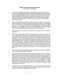 interview transcript format s k p google text and. Black Bedroom Furniture Sets. Home Design Ideas