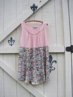 Boho pink floral vintage floral boho dress by ShabyVintage on Etsy, $47.00