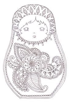 matryoshka   Matryoshka - coloriage   Printables