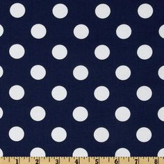 Michael Miller Prepsters Quarter Dot Midnite from @fabricdotcom  From Michael Miller, this fabric is perfect for quilting, craft projects, apparel and home decor accents. Colors include white on a navy blue background.