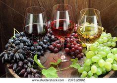 Red Wine Glass, Rose Wine Glass, White Wine Glass, Red Wine Grapes ...