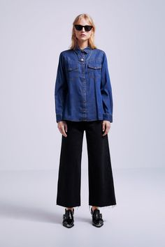 66c628df48d38 DENIM SHIRT WITH POCKETS - Item available in more colors Shirt Blouses,  Shirts, Zara
