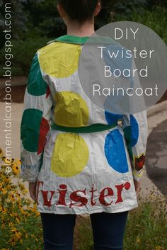 DIY Tutorial How to make a raincoat out of a Twister board. Pretty cool