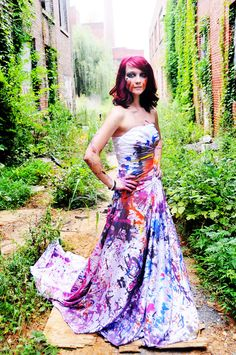 Paint Powder Trash The Dress Session Via Theeld