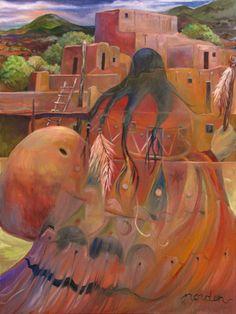 Spirit of the Sleeping Pueblo ~ by Marilu Norden