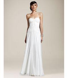wedding dress white floor length strapless