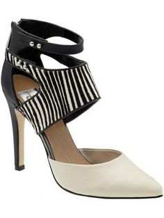 """Dv By Dolce Vita - Ferris --> Imported.   DV by Dolce Vita Ferris Pump  Two-piece pump  Ankle cuff with cutout details  4"""" heel  Synthetic lining  Synthetic outsole  Back zip closure  Upper: 100% leather"""