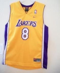 VINTAGE LOS ANGELES LAKERS KOBE BRYANT KIDS YOUTH JERSEY SIZE L 14-16 NIKE by ALEXLITTLETHINGS
