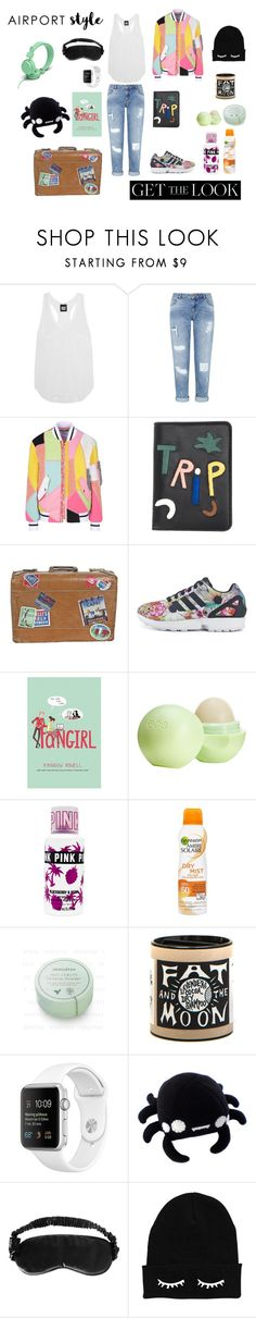 """Colorful Trip"" by flowerdreams on Polyvore featuring Ivy Park, Miss Selfridge, Moschino, Lizzie Fortunato Jewels, adidas, Eos, Garnier, Slip, Urbanears and GetTheLook"