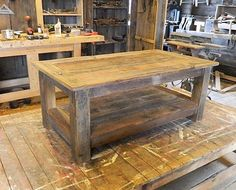 "Custom Made ""Signatures Series"" Rustic Barn Wood Coffee Table"