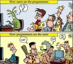 How programmers and users see each other