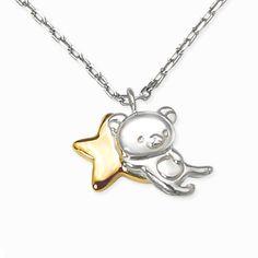 Kawaii Accessories, Jewelry Accessories, Jewelry Design, Rilakuma Wallpapers, Ear Jewelry, Jewellery, Star Pendant, Pendant Necklace, Beautiful Engagement Rings