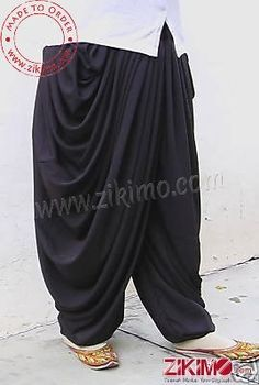Made To order Cotton Satin Black Patiala Salwar