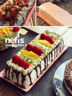 Small Desserts, Desserts Menu, Great Desserts, Delicious Desserts, Yummy Food, Creative Cake Decorating, Cake Decorating Techniques, Creative Cakes, Pastel Rectangular