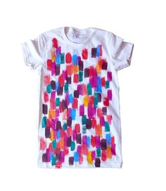 Hand Painted Changing Leaves Organic Tee for Men and Women
