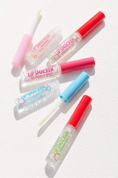 Check out Lip Smacker Liquid Lip Gloss Friendship Party Pack from Urban Outfitters lip products Lip Smacker Liquid Lip Gloss Friendship Party Pack Lipsense Lip Colors, Lip Gloss Colors, Pink Lip Gloss, Pink Lips, Best Lip Gloss, Glitter Lip Gloss, Clear Lip Gloss, Urban Outfitters, Gloss Labial