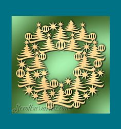 Scroll Saw Patterns :: Holidays :: Christmas :: Wreaths :: Tree wreath -