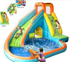 kids Inflatable Water Parks , Inflatable Swimming Pool With Slide
