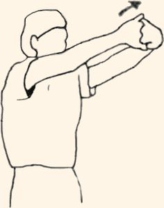Image result for standing rhomboid stretch